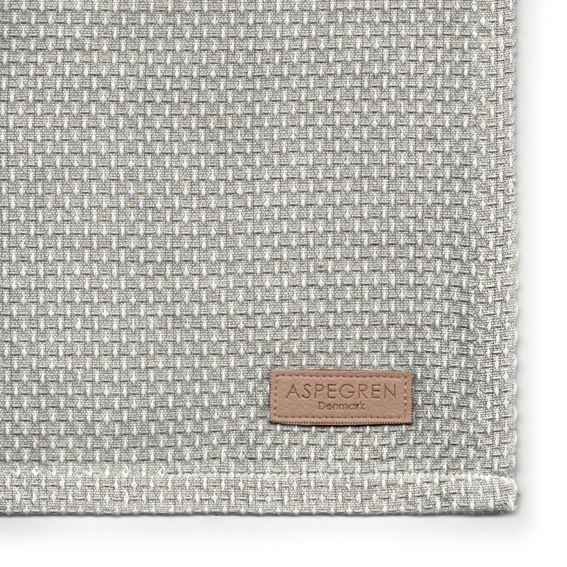 Viskestykker Design Aspegren Waffle Light Gray