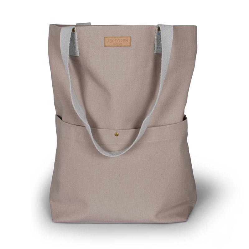 Einkaufstaschen Leinwand Design Aspegren Mano Khaki