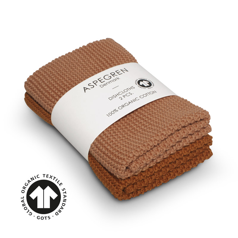 Dishcloth Knitted Design Aspegren Solid Pumpkin