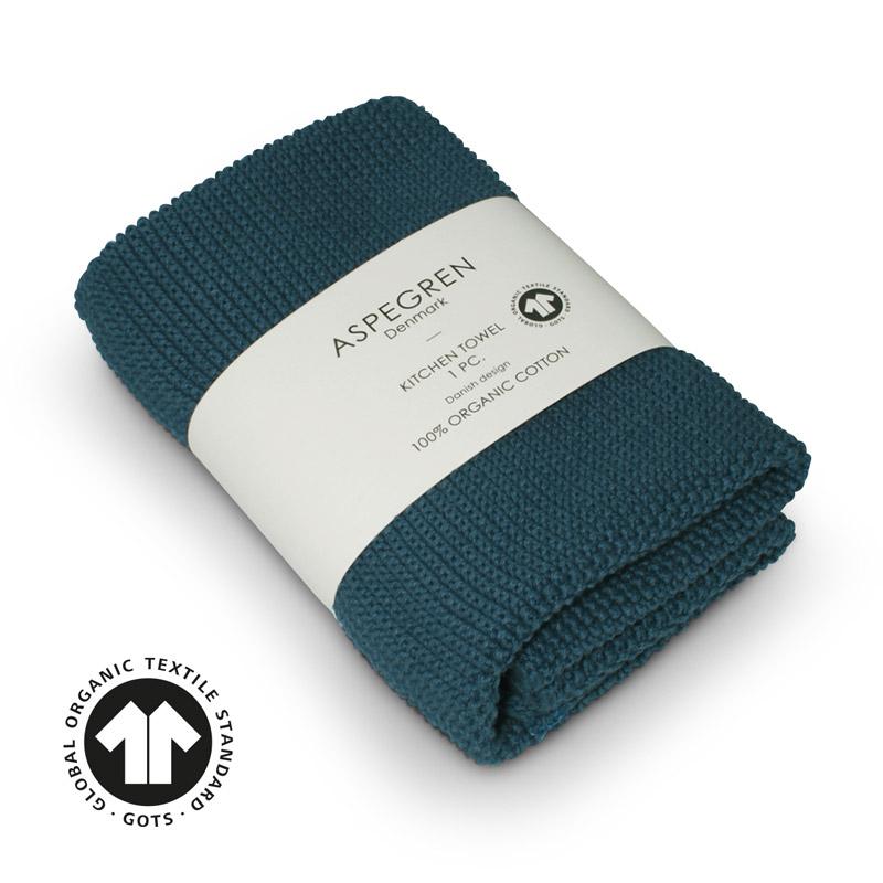 Handtuch Gestricktes Design Aspegren Solid Indigo