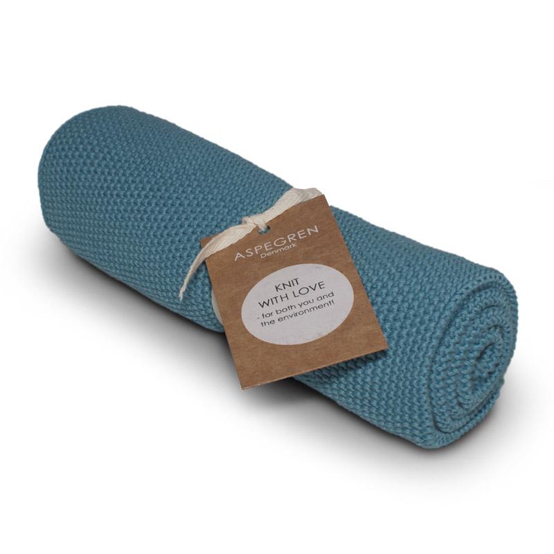 Handtuch Gestricktes Design Aspegren Solid Aqua Sea