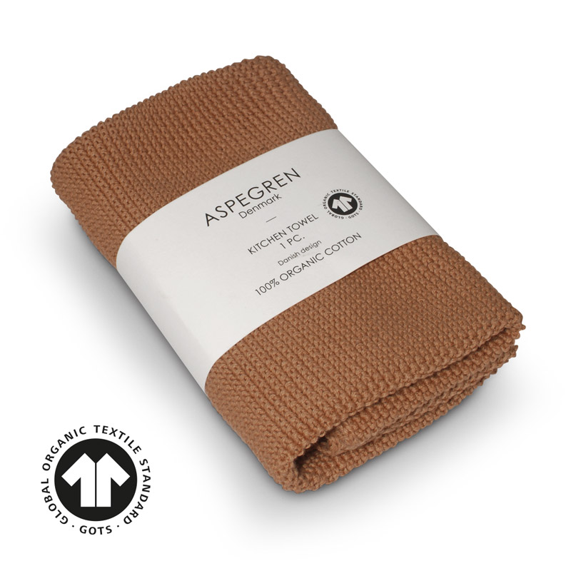 Handtuch Gestricktes Design Aspegren Solid Cafe Creme