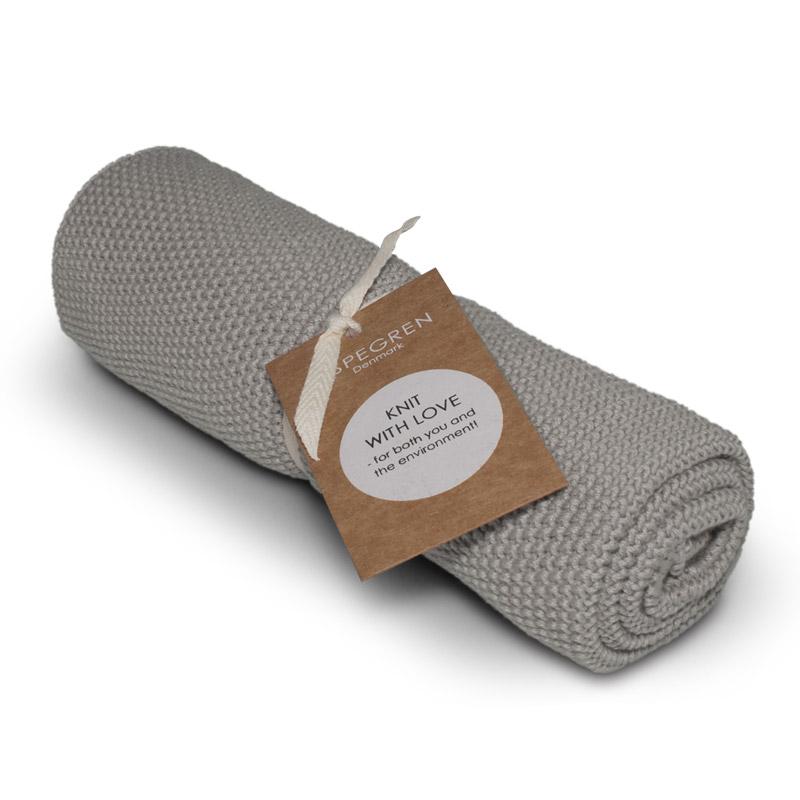 Handtuch Gestricktes Design Aspegren Solid Flint Gray