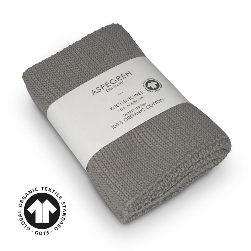 Køkken Håndklæde Design Aspegren Solid Flint Gray