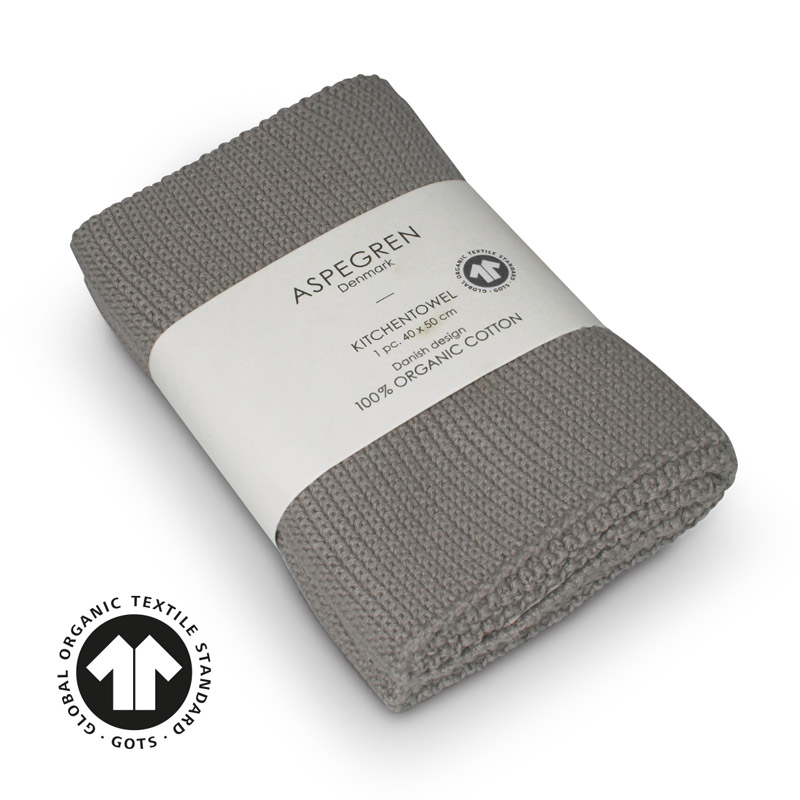 Kitchen Towel Design Aspegren Solid Flint Gray