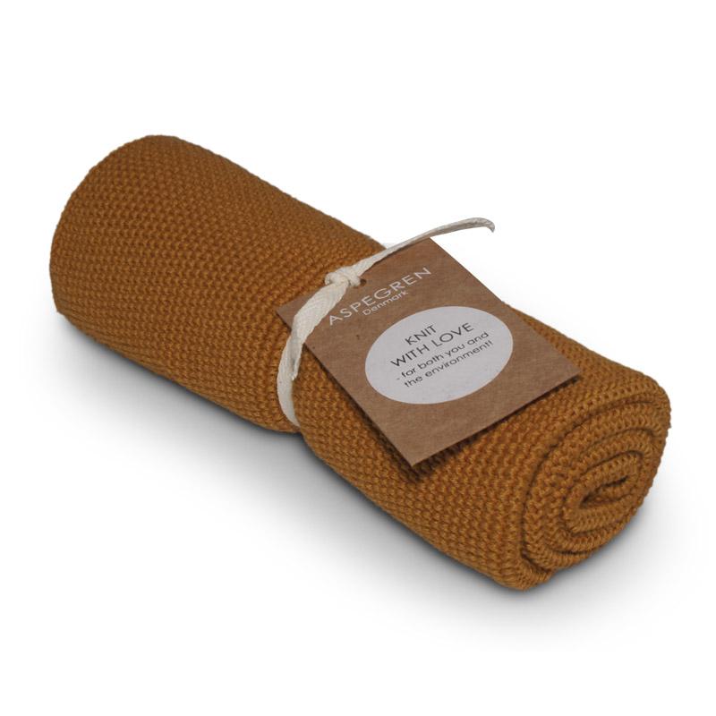 Handtuch Gestricktes Design Aspegren Solid Inca Gold