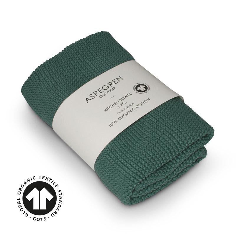 Handtuch Gestricktes Design Aspegren Solid Jade
