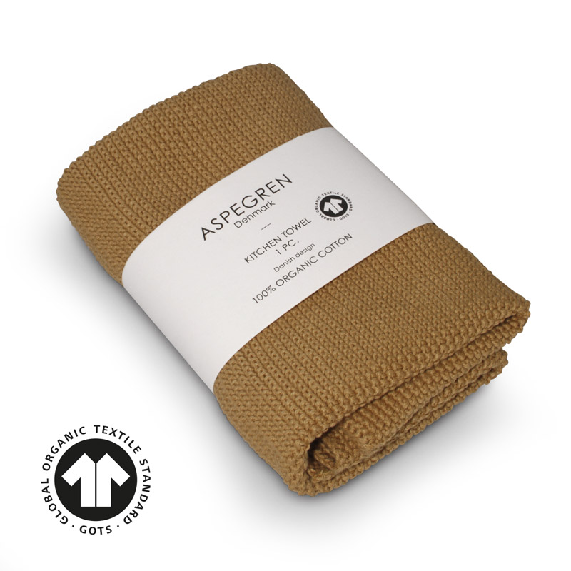Handtuch Gestricktes Design Aspegren Solid Mustard