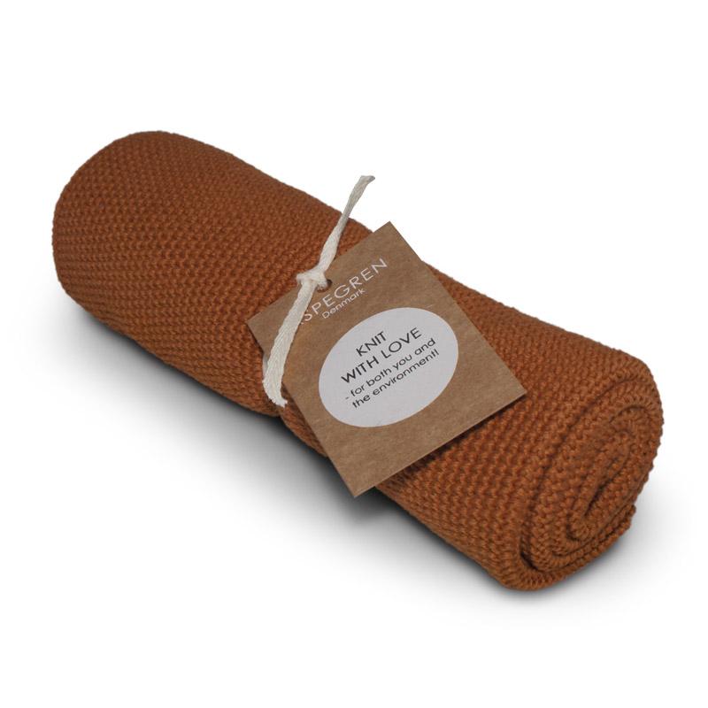 Handtuch Gestricktes Design Aspegren Solid Pumpkin