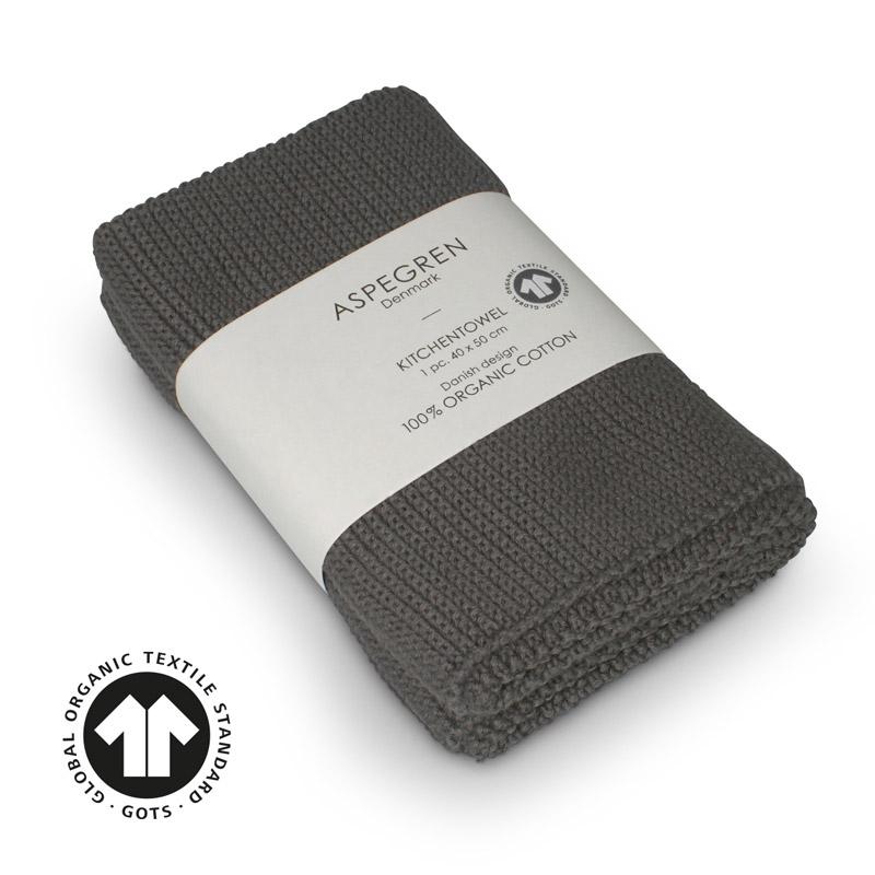 Handtuch Gestricktes Design Aspegren Solid Steel Gray