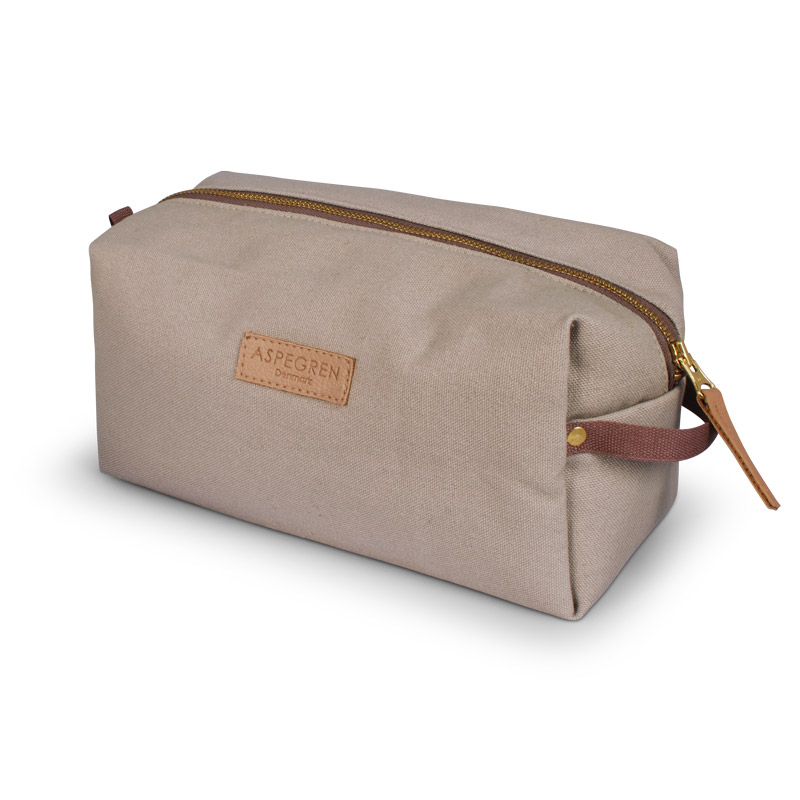 Box Makeup Bag Design Aspegren Mano Khaki