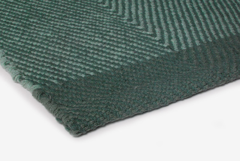Gulvløber Design Aspegren Herringbone Green Mix 70x130
