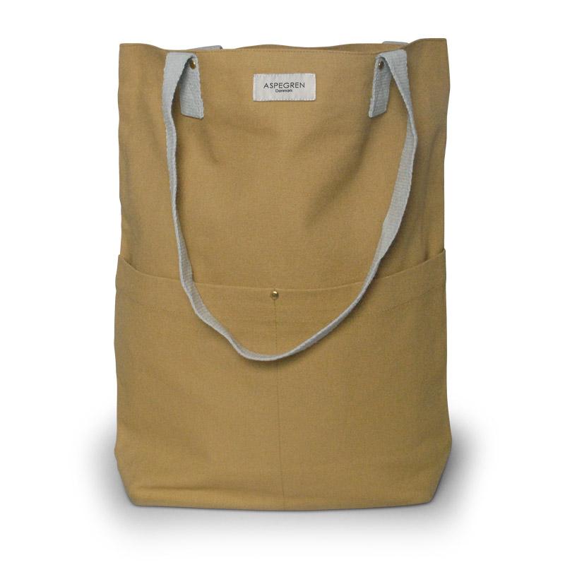 Einkaufstaschen Leinwand Design Aspegren Mano Mustard