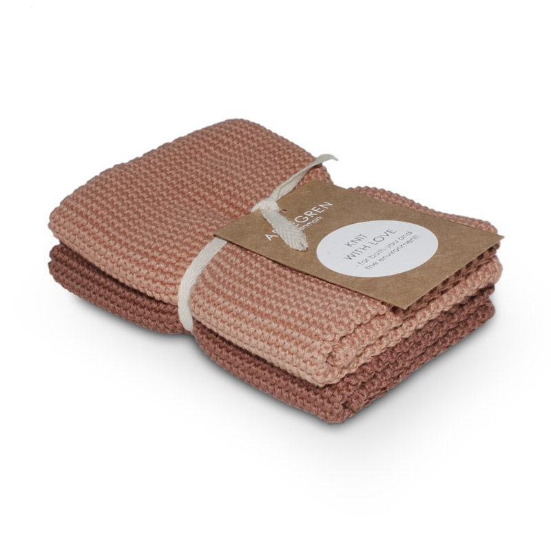 Dishcloth Knitted Design Aspegren Solid Pale Blush