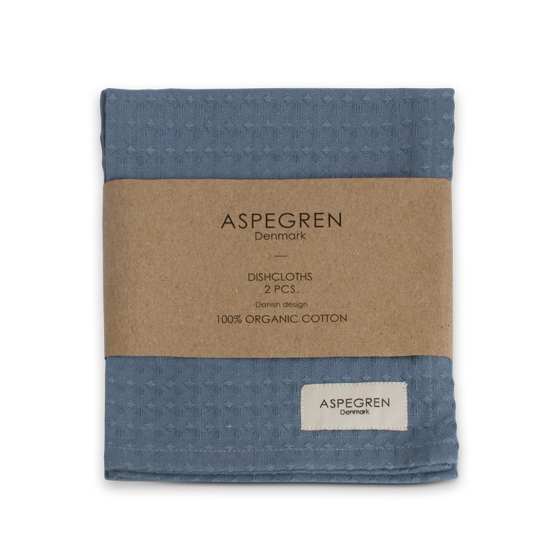 Dishcloth Organic Design Aspegren North Denim
