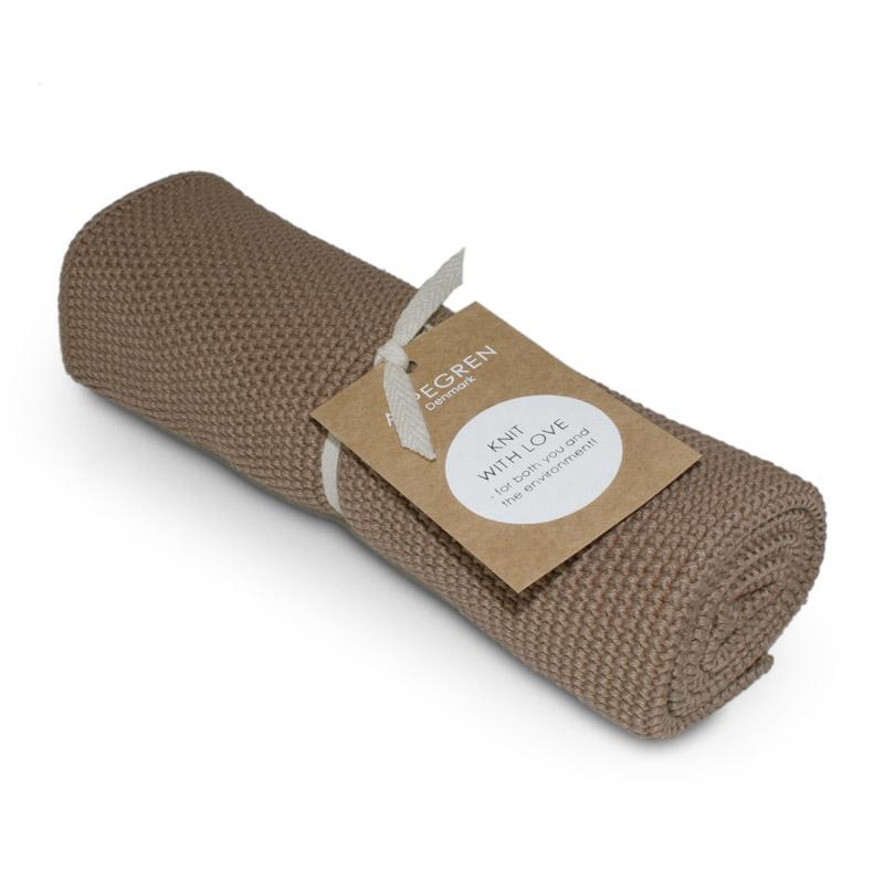 Handtuch Gestricktes Design Aspegren Solid Hazelnut