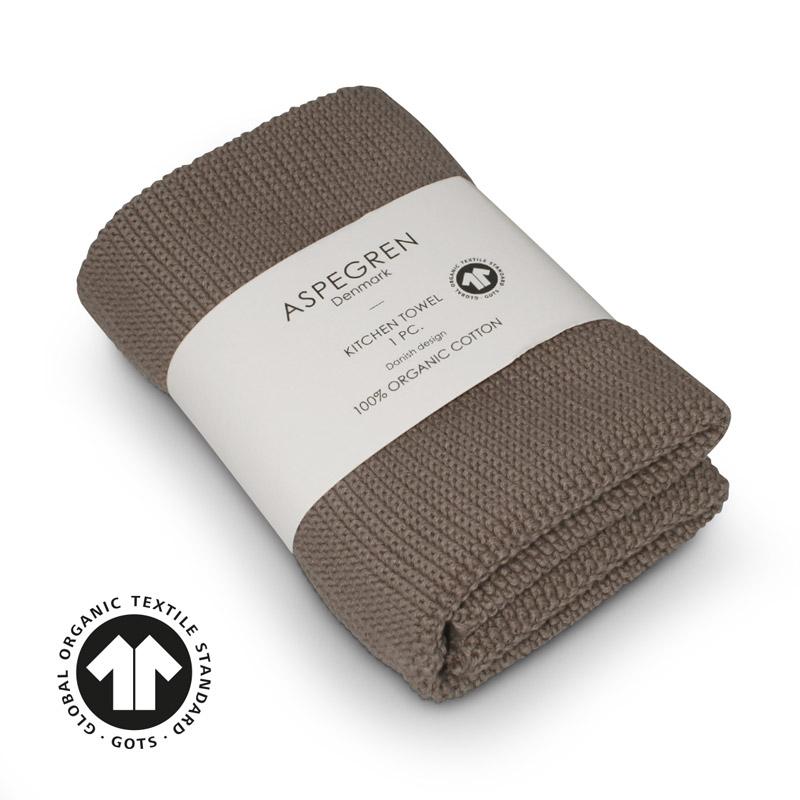 Køkken Håndklæde Design Aspegren Solid Hazelnut
