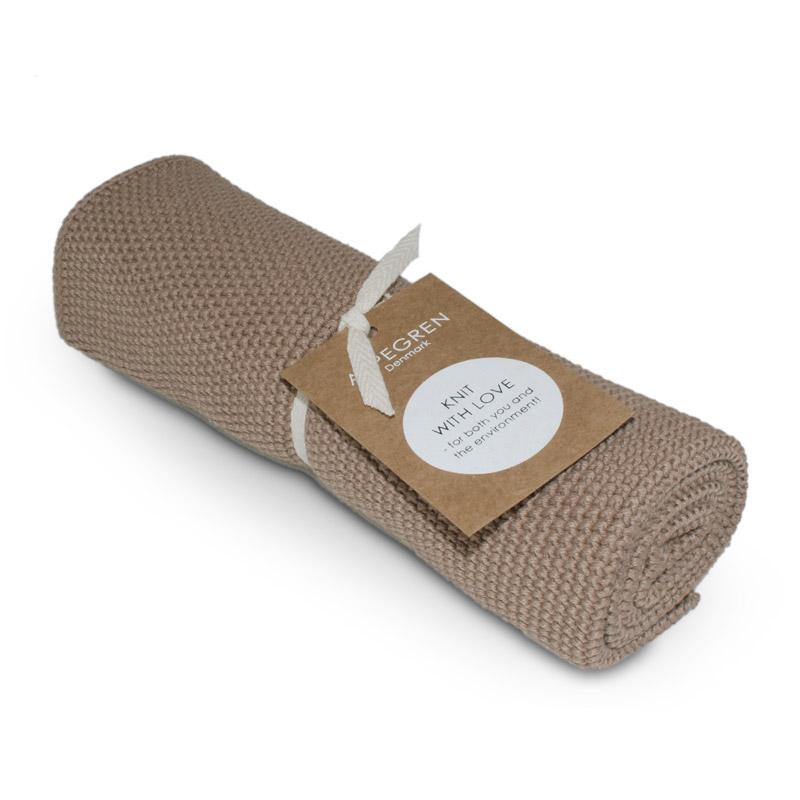 Handtuch Gestricktes Design Aspegren Solid Zinc