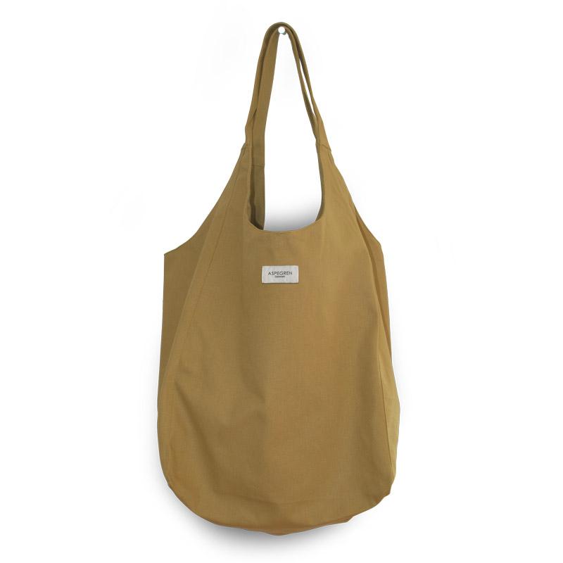 Canvas bag Tote Design Aspegren Mano Mustard