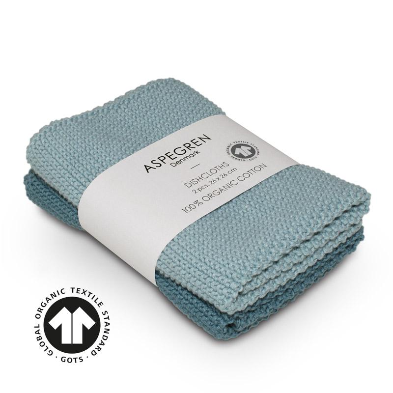 Dishcloth Knitted Design Aspegren Solid Aqua