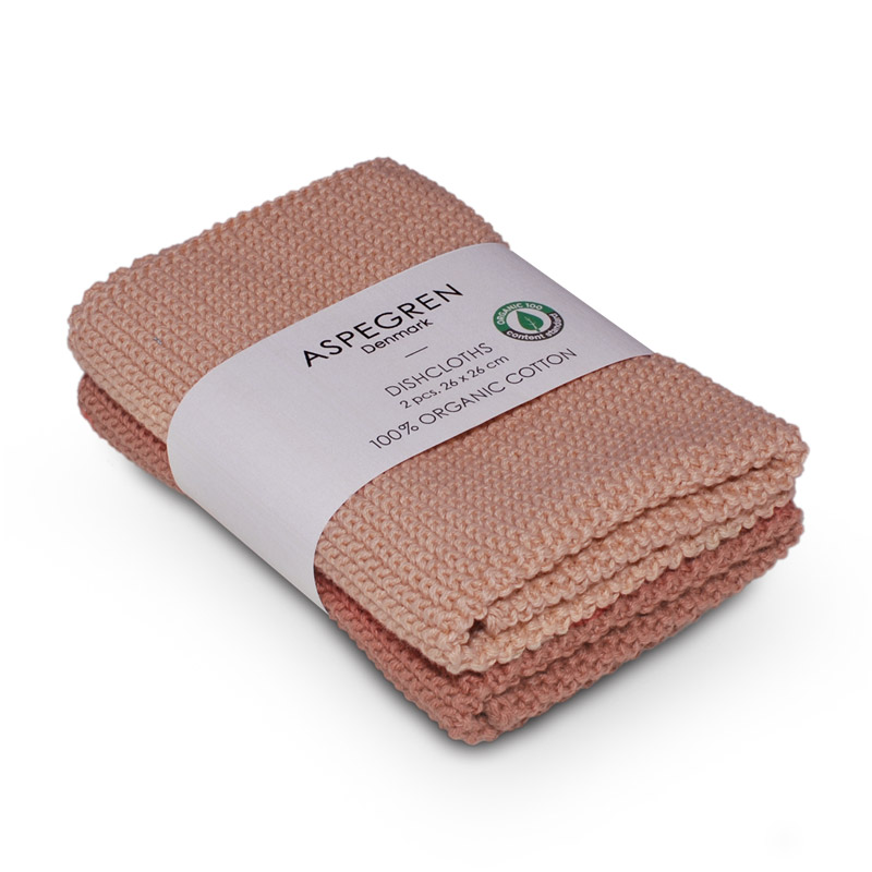Dishcloth Knitted Design Aspegren Solid Clay
