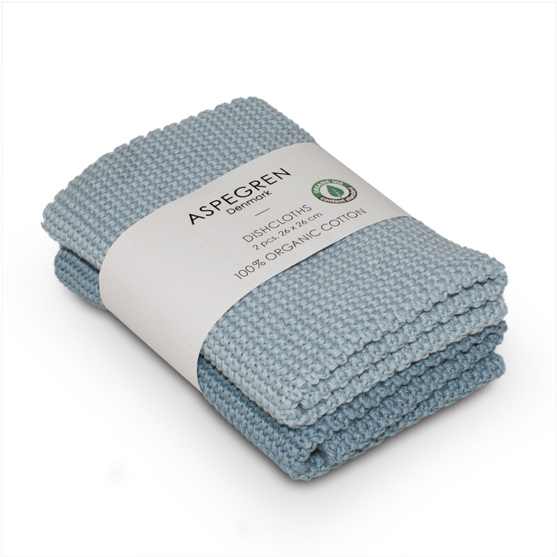 Dishcloth Knitted Design Aspegren Solid Skyway