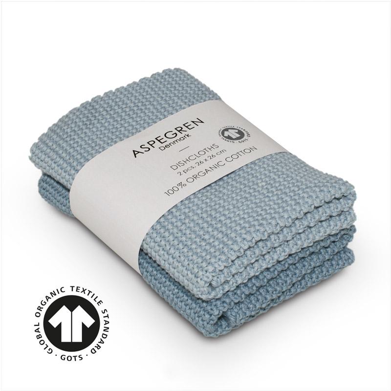 Dishcloth Knitted Design Aspegren Solid Skyway