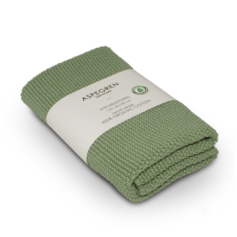Køkken Håndklæde Design Aspegren Solid Alo Green