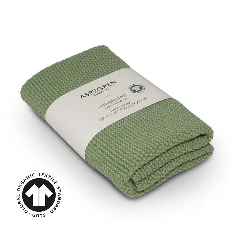 Handtuch Gestricktes Design Aspegren Solid Alo Green