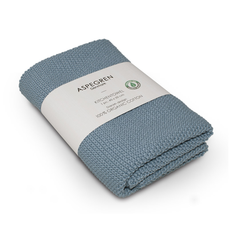 Handtuch Gestricktes Design Aspegren Solid Dream Blue