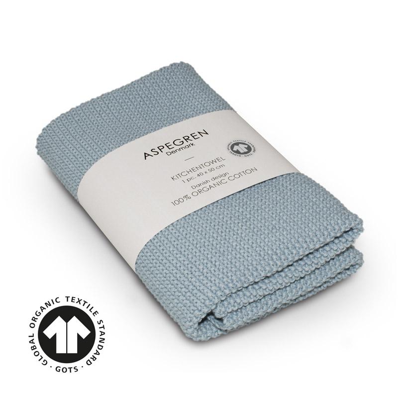 Kitchen Towel Design Aspegren Solid Skyblue