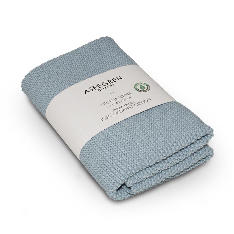 Handtuch Gestricktes Design Aspegren Solid Skyblue