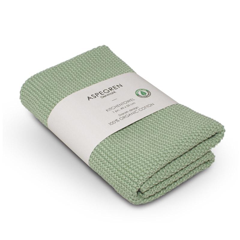 Handtuch Gestricktes Design Aspegren Solid Tender Green