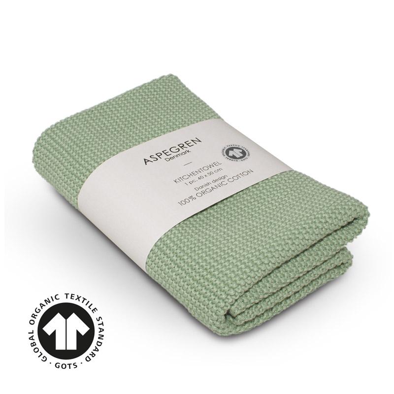 Kitchen Towel Design Aspegren Solid Tender Green