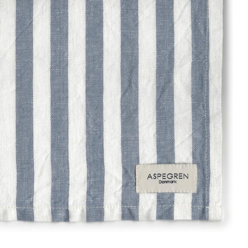 Tea Towel Design Aspegren Lines Pearl and Blue