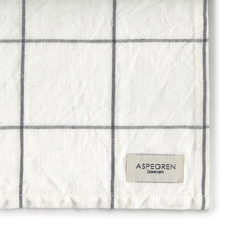Tea Towel Design Aspegren Squares White and Black