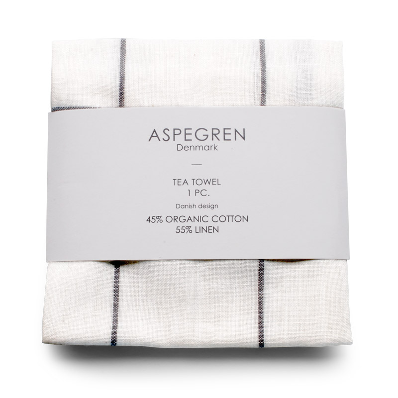 Tea Towel Design Aspegren Squares White and Black