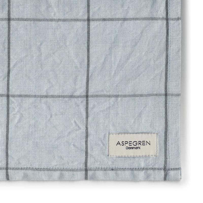 Tea Towel Design Aspegren Squares Pearl and Blue