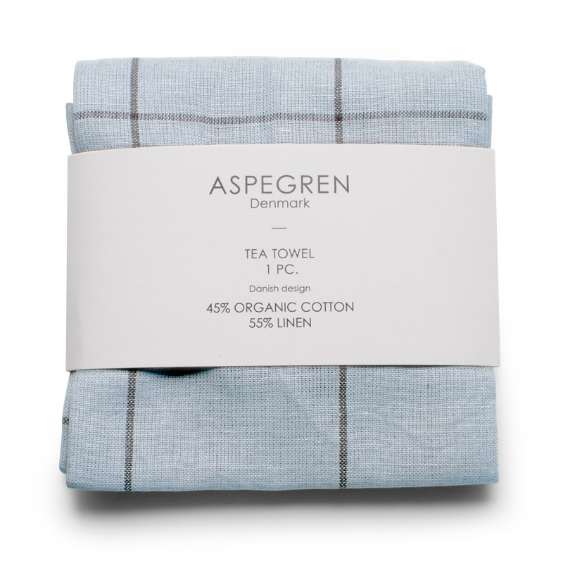 Viskestykker Design Aspegren Squares Pearl and Blue