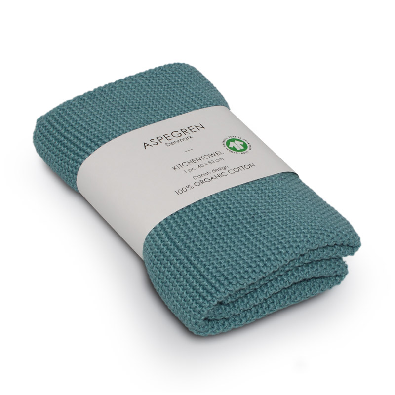 Kitchen Towel Design Aspegren Solid Aqua Sea