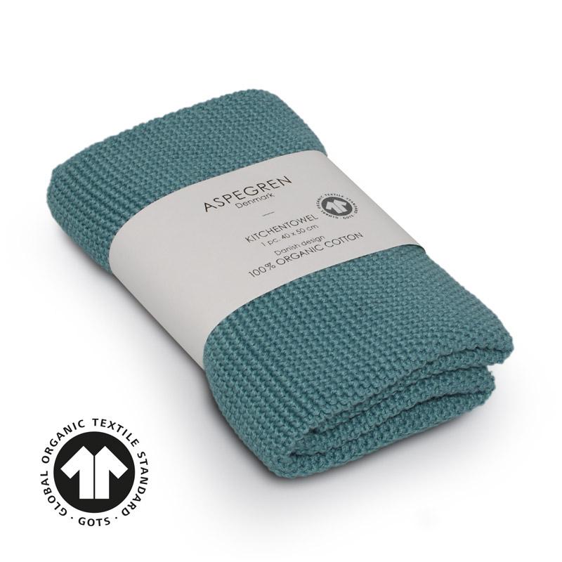 Køkken Håndklæde Design Aspegren Solid Aqua Sea