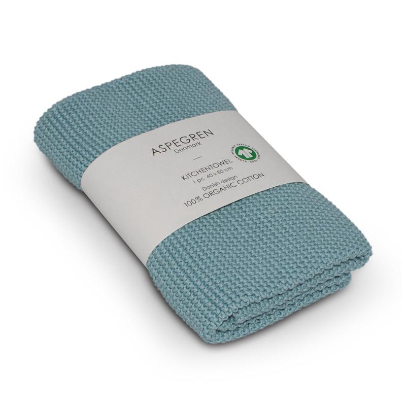 Køkken Håndklæde Design Aspegren Solid Blue Haze