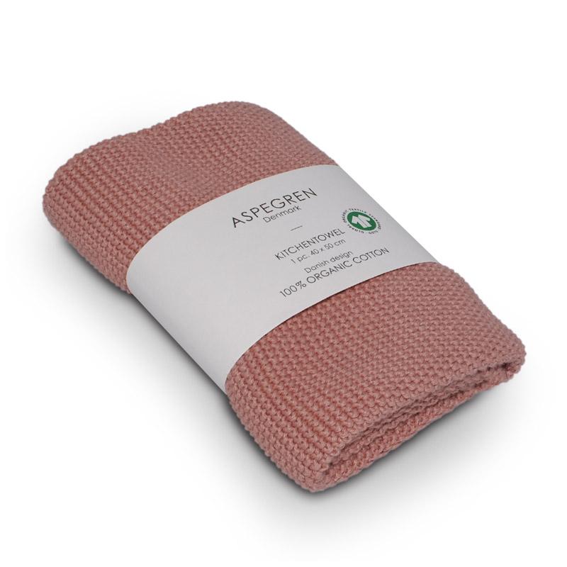 Handtuch Gestricktes Design Aspegren Solid Coral