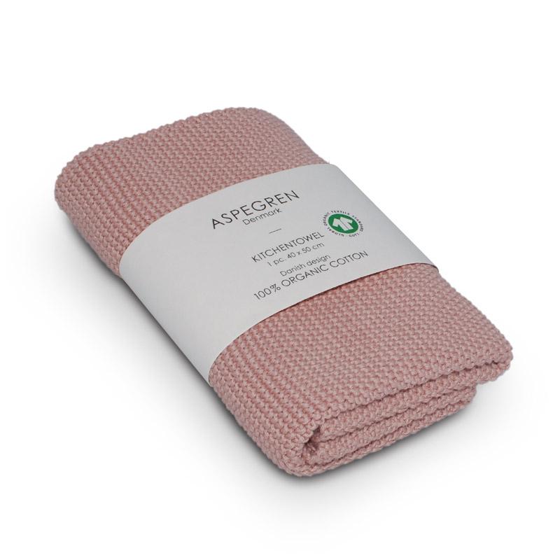 Handtuch Gestricktes Design Aspegren Solid Evning Sand