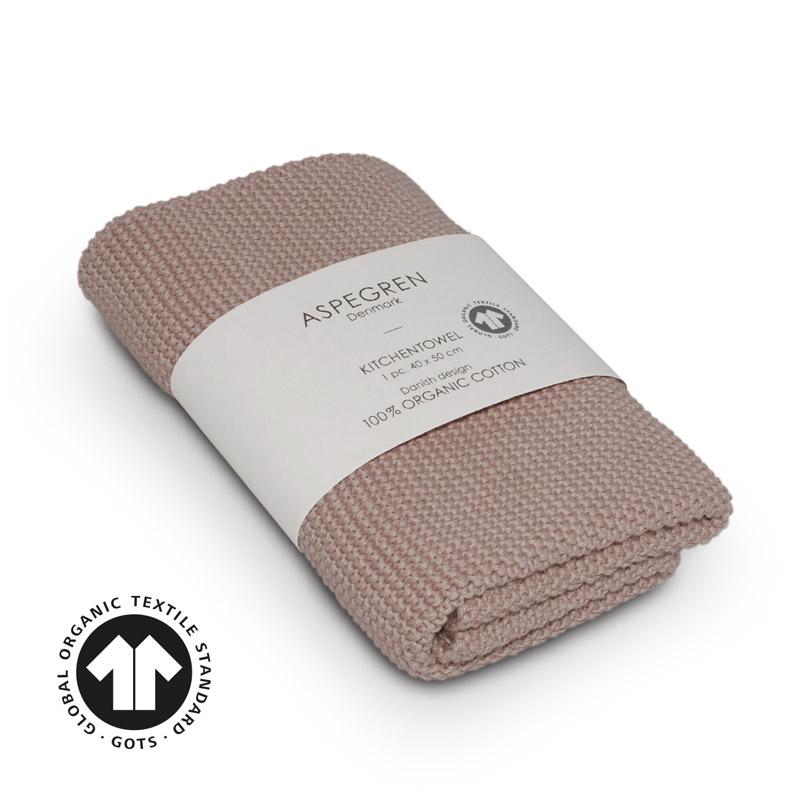 Handtuch Gestricktes Design Aspegren Solid Pale Mauve