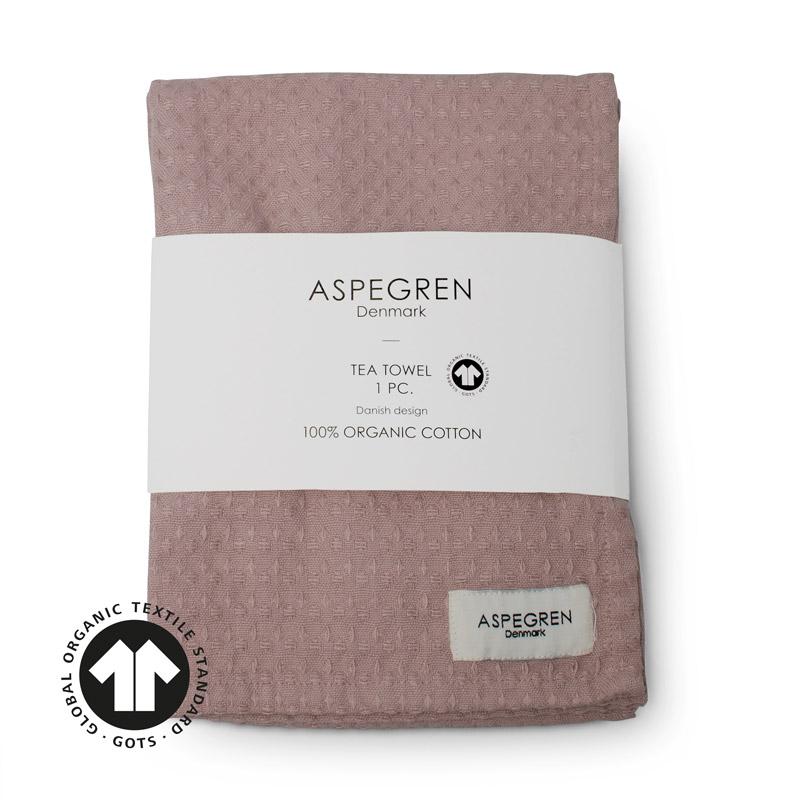 Viskestykker Organic Design Aspegren North Mauve