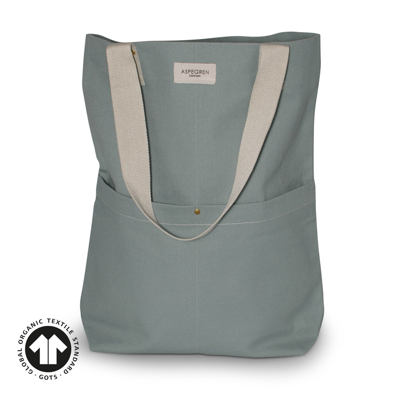Canvas bag Design Aspegren Mano Granite Green
