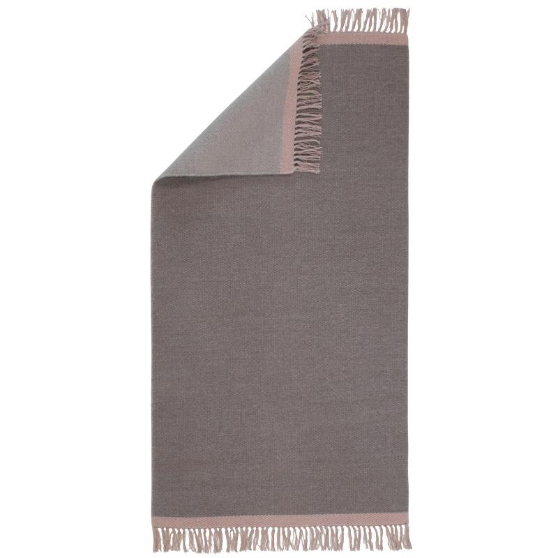 Gulvløber Uld Design Aspegren Kelim Solid Gray 70x130