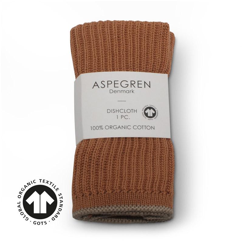 Dishcloth Knitted Design Aspegren Ripple Camel