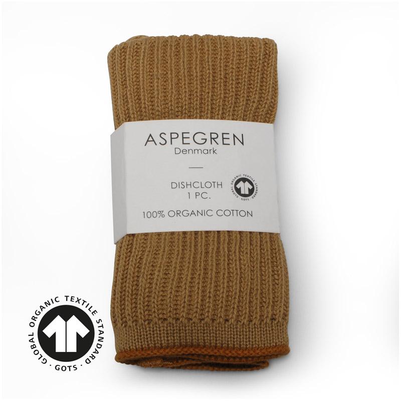 Dishcloth Knitted Design Aspegren Ripple Honey